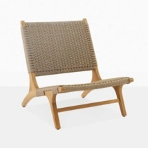 Tokio Teak And Rope Lounge Chair