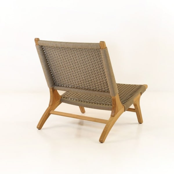 tokio teak relaxing chair back angle view