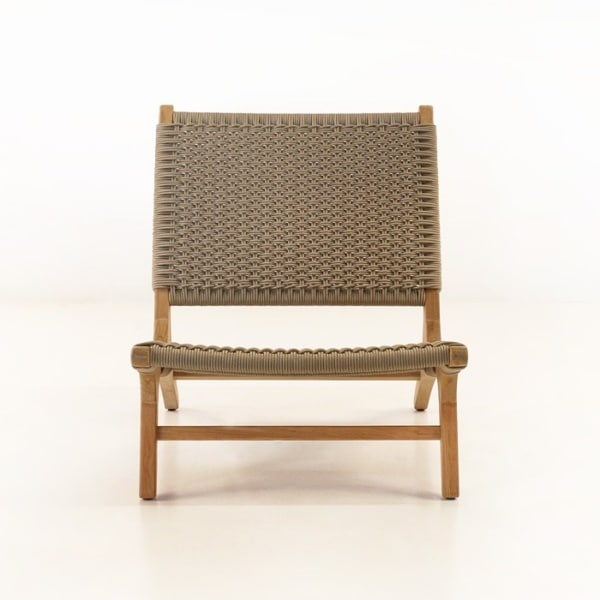 tokio teak relaxing chair front view