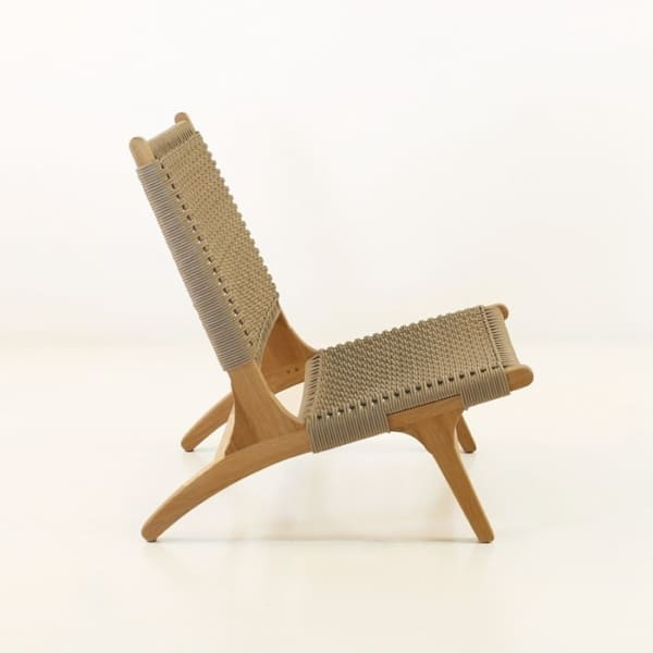 tokio teak relaxing chair side view