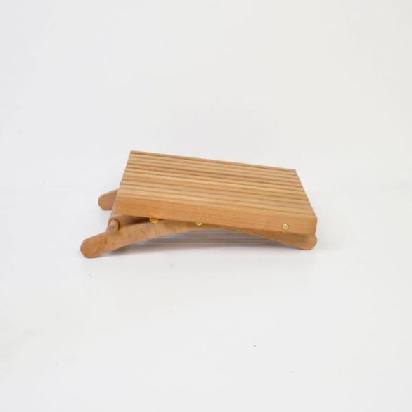 toscana small teak folding table folded flat