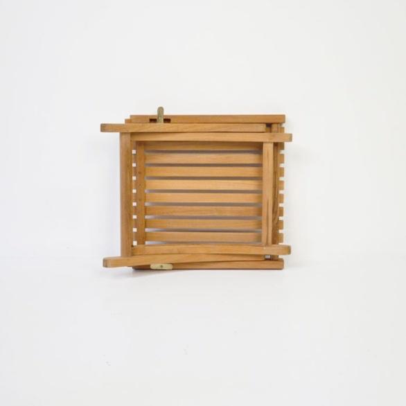 toscana small teak folding table folded