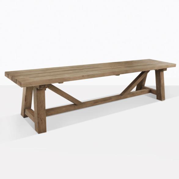 Teak Trestle Dining Bench