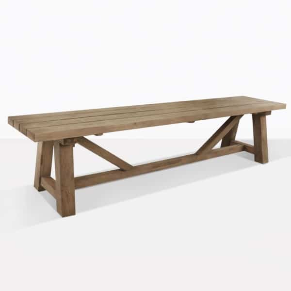 Teak Trestle Dining Bench