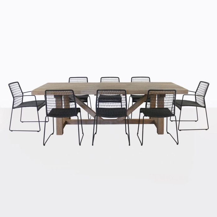 Trestle And Edge Dining Set