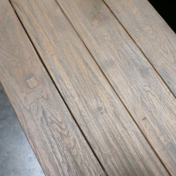 Trestle Dining Bench Closeup