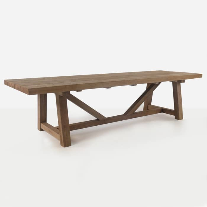 Trestle Table Reclaimed Teak Dining Tables Teak