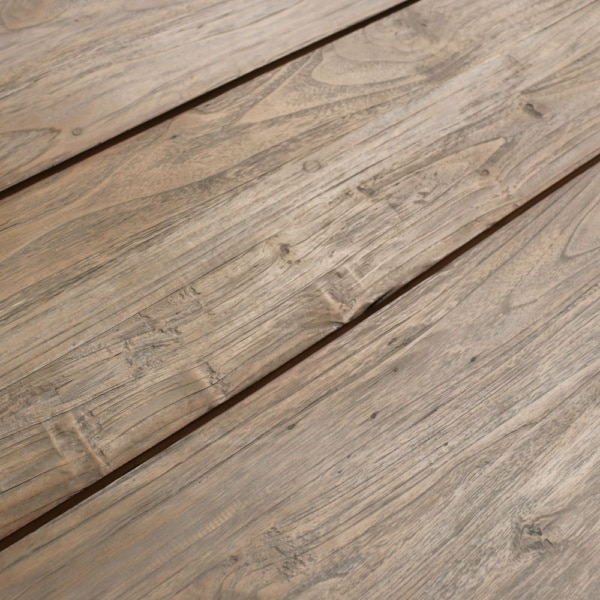 Teak Trestle Table Closeup Image