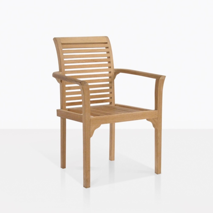 Treviso Stacking Teak Dining Chair Outdoor Patio Seating Teak Warehouse