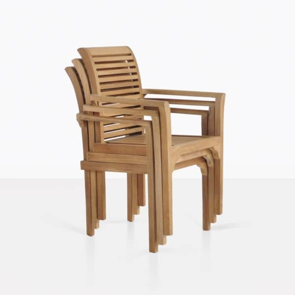 Treviso Stacked Teak Dining Chairs