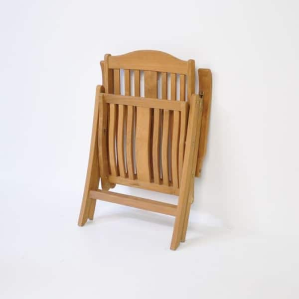 tuscany teak reclining chair folded