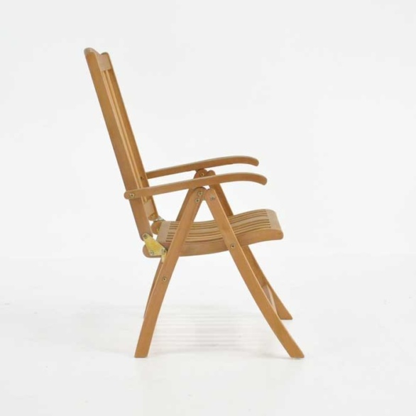 tuscany teak reclining chair side view