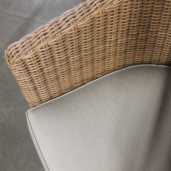 Vena Wicker Tub Chair Closeup