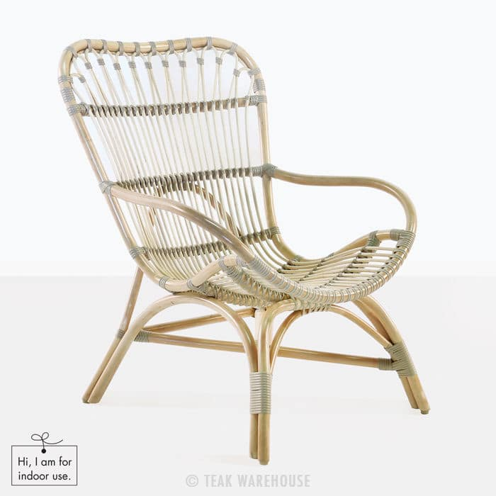 Veranda Indoor Chair Rattan Teak Warehouse