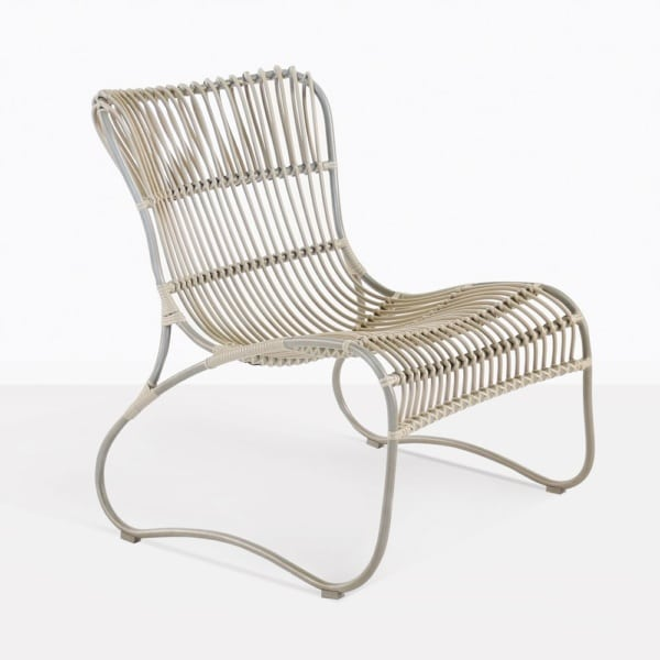 Weave Wicker And Aluminum Relaxing Chair