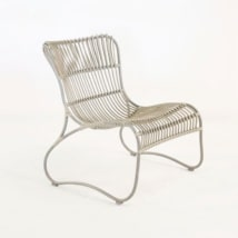Weave Wicker and Aluminum Relaxing Chair-0