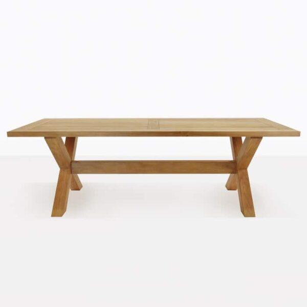 x-leg teak dining table