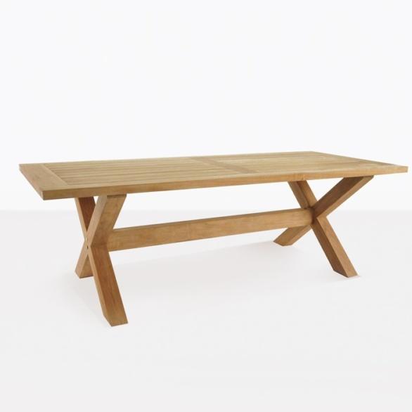 X-Leg A-Grade Teak Outdoor Dining Tables-0