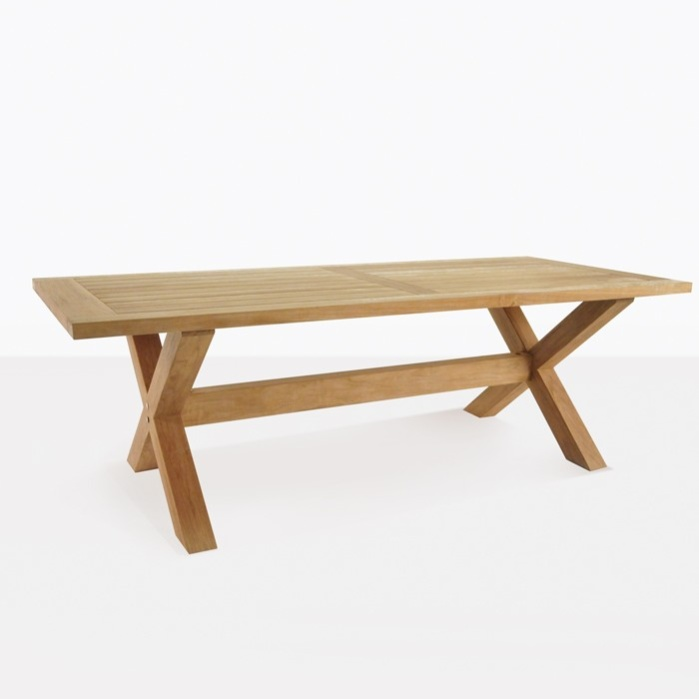 teak outdoor dining table X Leg A Grade Teak Outdoor Dining Tables | Teak Warehouse teak outdoor dining table