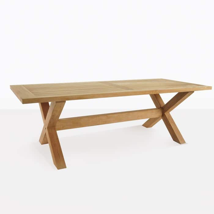 X Leg A Grade Teak Outdoor Dining Tables Teak Warehouse
