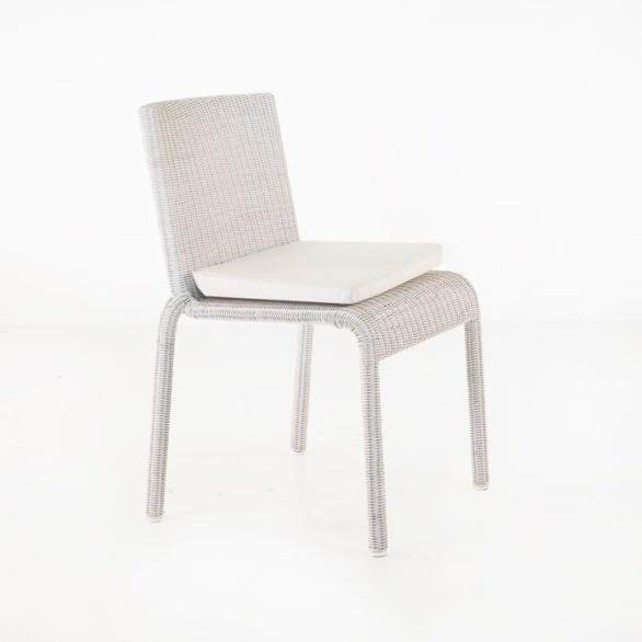 zambezi stacking white chair