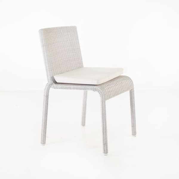 zambezi stacking white chair