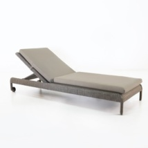 Zambezi Outdoor Wicker Sun Lounger (Pebble)-0
