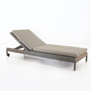 zambezi outdoor wicker chaise lounge pebble