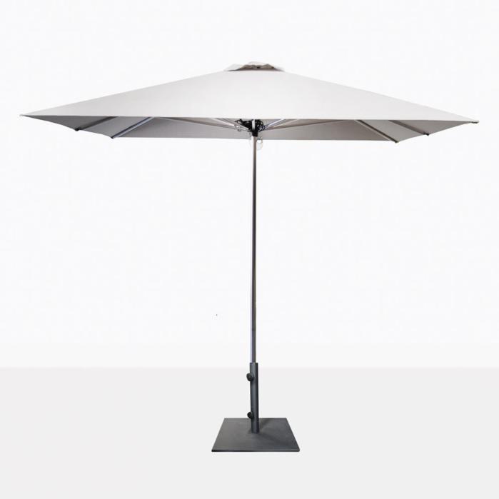 Veradero White Patio Umbrella With Base