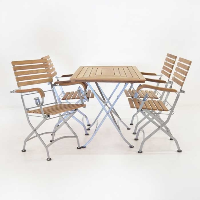 Cafe Rectangle Folding Table and Armchair Collection-0