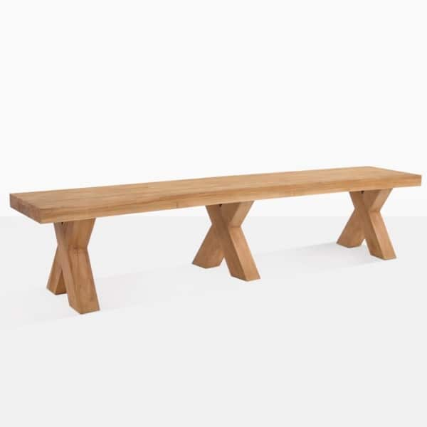 Cross Reclaimed Teak Large Backless Bench