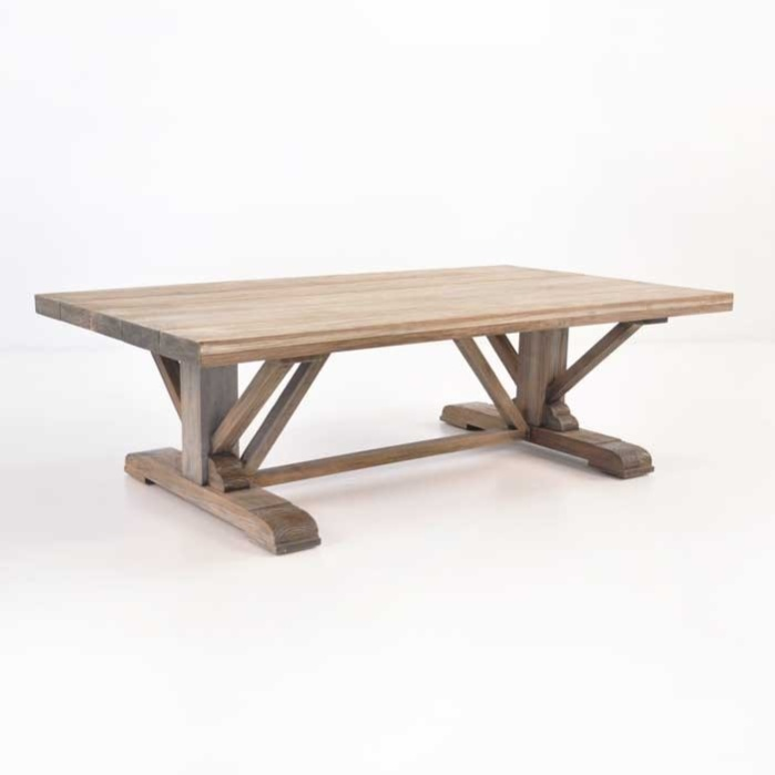 Kingsley Wide Reclaimed Teak Rustic Coffee Table-0