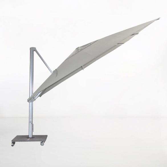 kingston 13ft cantilever umbrella grey angle view