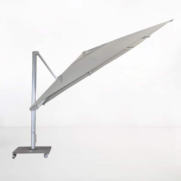 kingston 13ft cantilever umbrella grey angle view