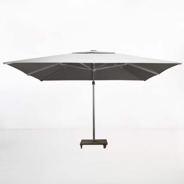kingston 13ft cantilever umbrella white side view