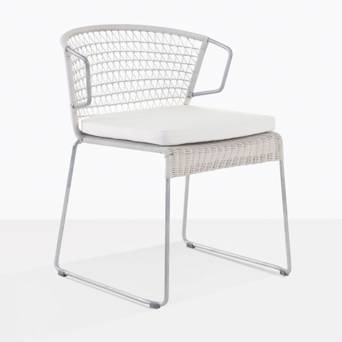 Sophia Modern White Wicker Dining Chair