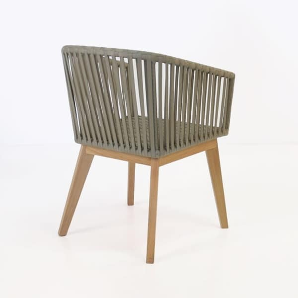 willow dining chair back angle view