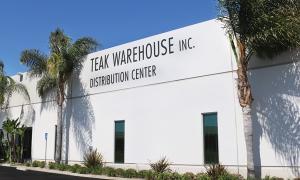 Teak Warehouse Distribution Center in Los Angeles