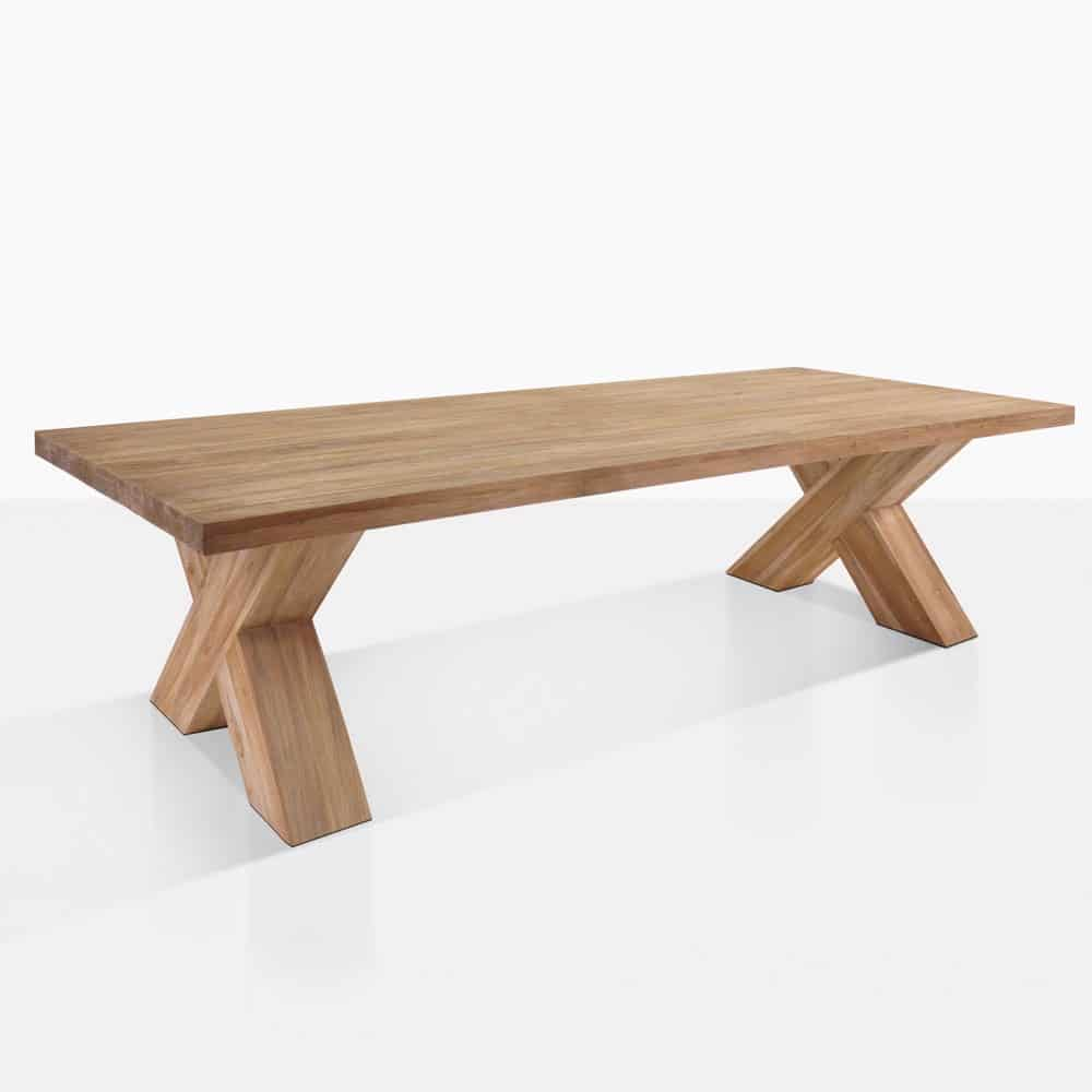 Cross Reclaimed Teak Outdoor Dining Table Teak Warehouse