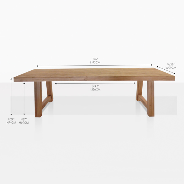 blok reclaimed teak dining table