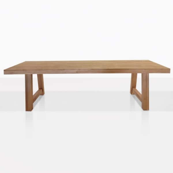 Blok Raw Teak Rectangle Dining Table