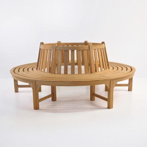 Round Tree Bench (Teak)-0
