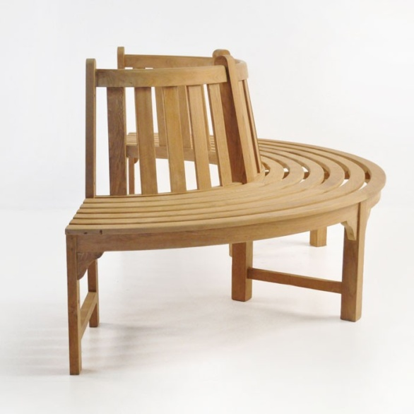 round tree bench section