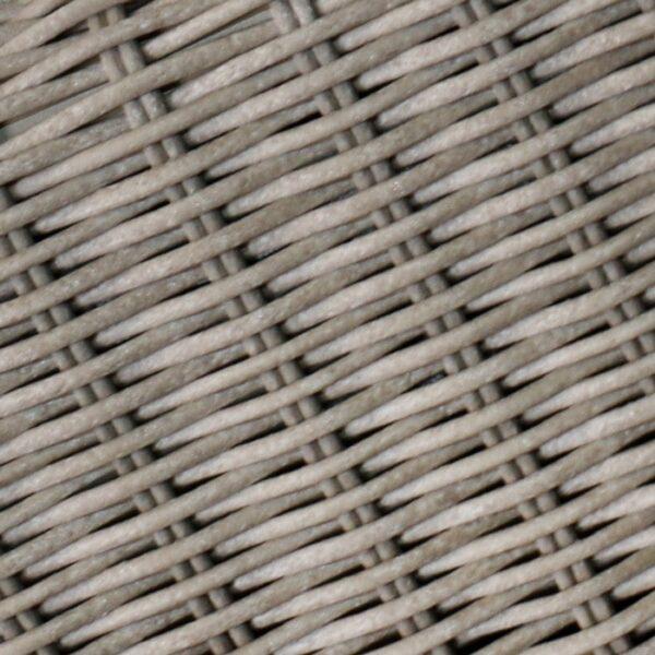 outdoor wicker coffee table closeup