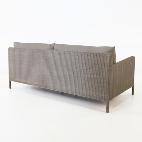 zambezi outdoor wicker sofa back view pebble