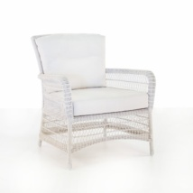 Hampton Wicker Club Chair (Chalk)-0