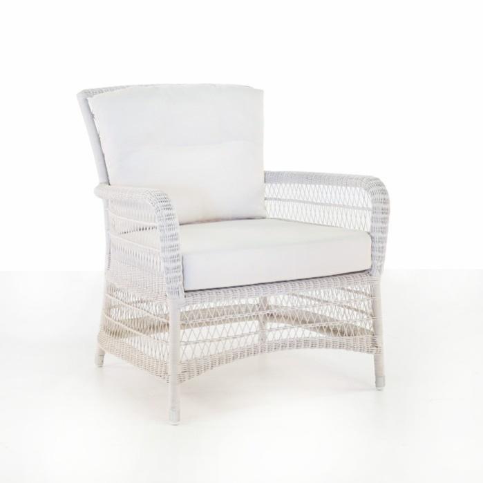 Hampton Wicker Club Chair (Chalk)-0