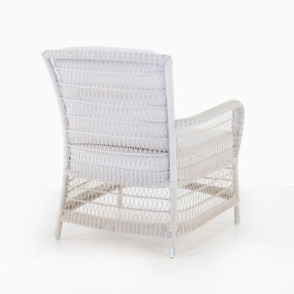 hampton white wicker lounge chair
