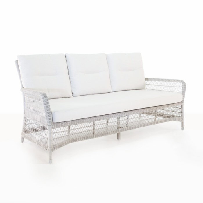Hampton Wicker Sofa (Chalk)-0