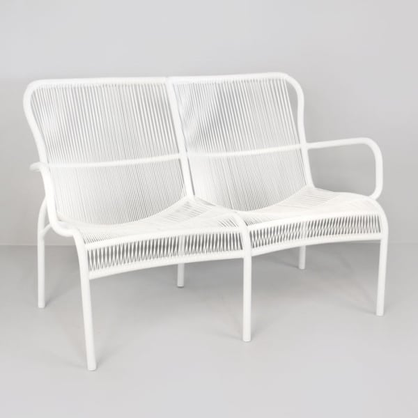 Luxe Outdoor Loveseat (White)-0